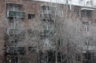 Balcony snow